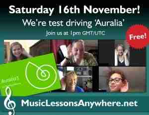 Try out MusicFirst Auralia Workshop live online - Music Lessons Anywhere