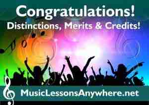 Congratulations live online music lessons exam results