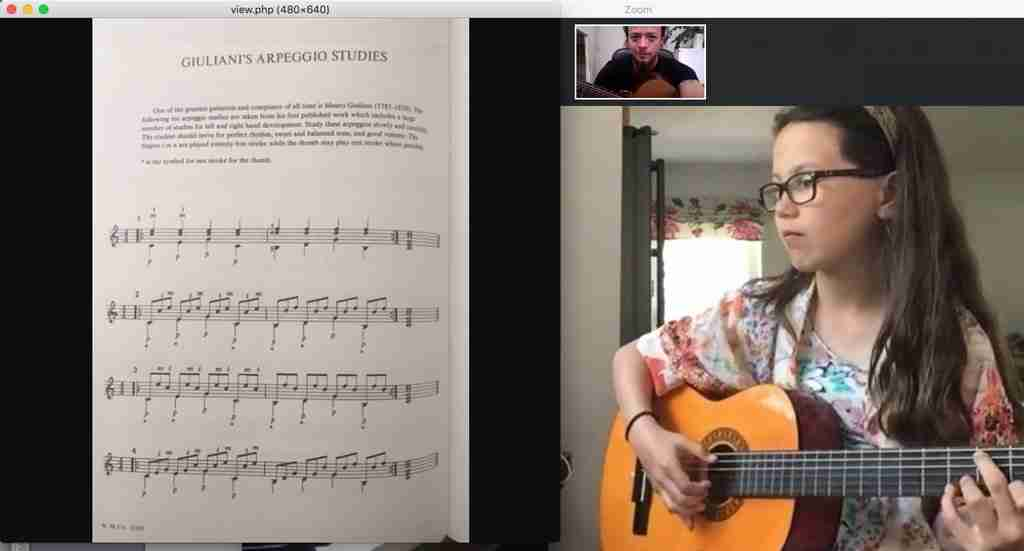 A Skype guitar lesson online with Music Lessons Anywhere