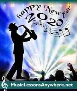 Happy New Year from online music school Music Lessons Anywhere
