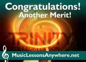 Skype Piano Lessons Trinity exam merit - Congratulations