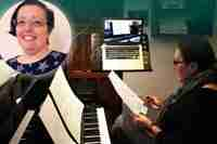 My first impressions of Skype piano lessons - Tracy and Rachel