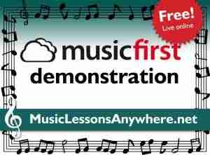 Musicfirst demonstration at Music Lessons Anywhere