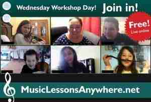 Wednesday Workshop Day - Extra free live online music Workshops