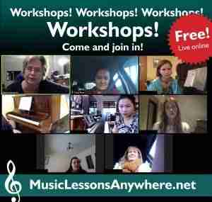 Free live online music Workshops