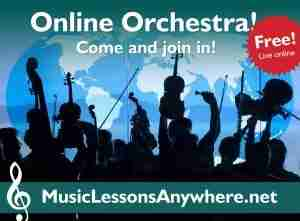 Live online orchestra with Music Lessons Anywhere