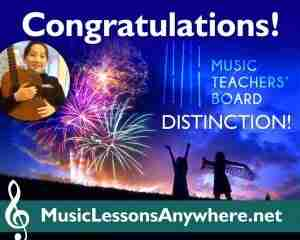 MTB Exams Distinction - Music Lessons Anywhere