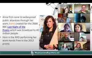 Live online composers workshop with Music Lessons Anywhere