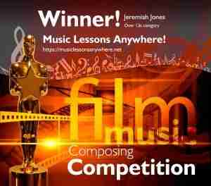 Film music composing competition winner Jeremiah - Music Lessons Anywhere