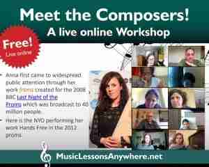 Live online meet women composers workshop - Music Lessons Anywhere