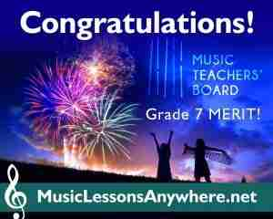 Congratulations MTB Piano Exam Merit - Music Lessons Anywhere