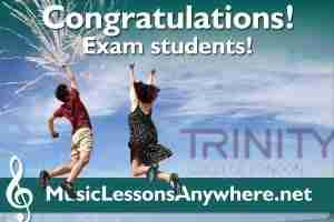Congratulations online music exam students
