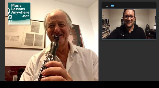 live online jazz clarinet lessons with Music Lessons Anywhere