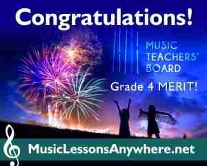 Congratulations MTB Grade 4 Piano Exam Merit - Music Lessons Anywhere