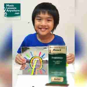 Declan MTB Piano Exam Distinction Grade 3 at Music Lessons Anywhere