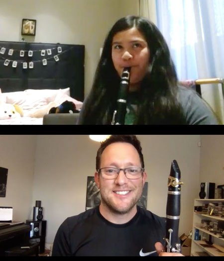 Thomas Dancer - Live online clarinet saxophone lessons Zoom - Music Lessons Anywhere