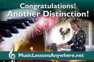 Congratulations piano exam distinction