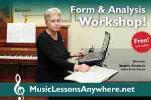 Live online music form and analysis workshop