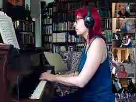 Skype piano performance online