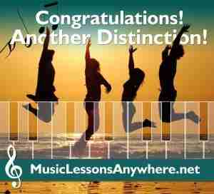 Congratulations piano exam distinction - Music Lessons Anywhere