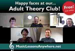 free live online Adult Theory Club Workshop