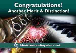 Congratulations Distinction and Merit MTB clarinet and piano exam - Music Lessons Anywhere