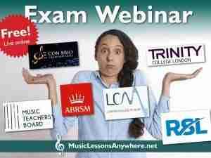 Free live online music exam board webinar