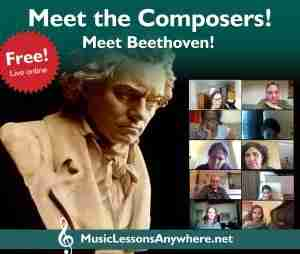 Live online meet the composers Beethoven workshop with Music Lessons Anywhere