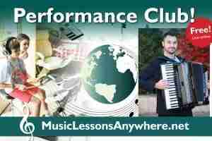 Live online music Performance Club Workshop with Stefan