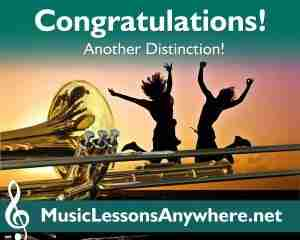 Congratulations Grade 3 Trombone Exam Distinction - Music Lessons Anywhere