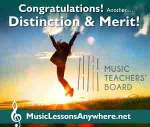 Congratulations MTB Piano Exam Grade 3 Distinction and Merit