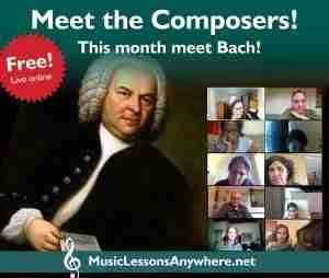 Live online meet the composers - Johann Sebastian Bach workshop