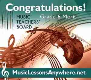 MTB Violin Exam Merit - Music Lessons Anywhere