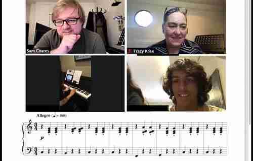Sam online piano singing composition tutor