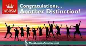 Congratulations Grade 5 Theory Exam Distinction