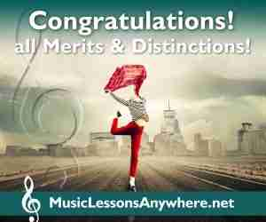 Congratulations - Music Exams all Merits and Distinctions