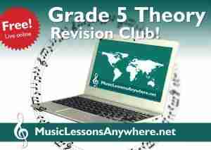 Free Live Online Grade 5-Theory Revision Club - Music Lessons Anywhere