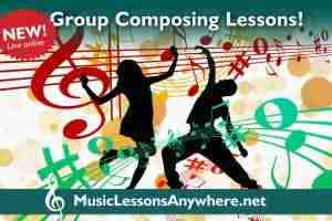 Zoom group composing lessons online