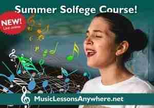 Zoom solfege course online