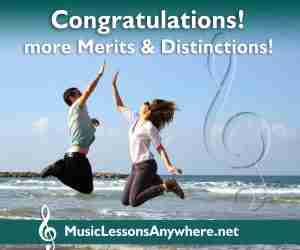 congratulations music exams distinctions and merits - Music Lessons Anywhere