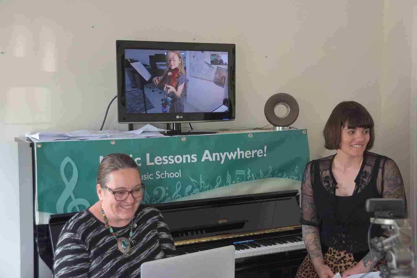 Music Lessons Anywhere Skype violin lessons online Tracy Rose and Carol Hodge
