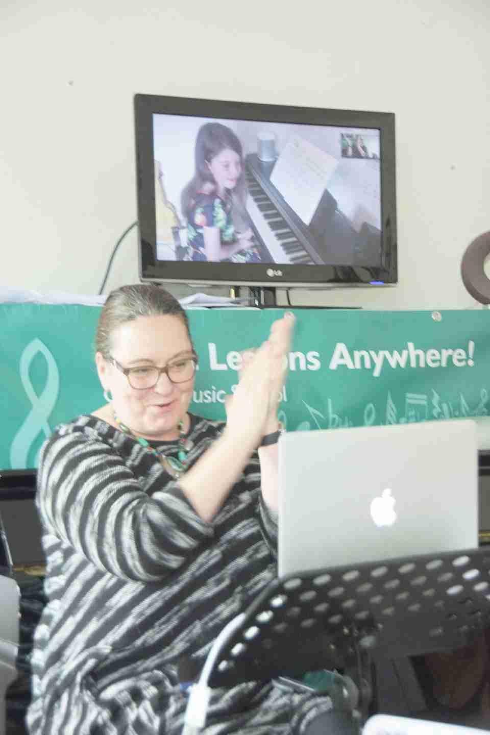 Music Lessons Anywhere live online concert Tracy Rose principal